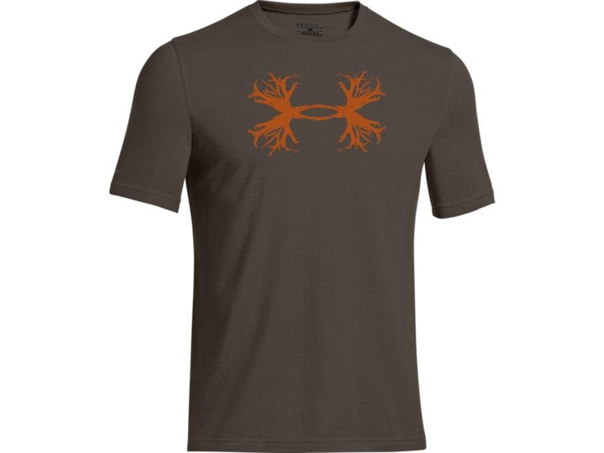 Under armour men 39 s antler logo t shirt short sleeve cotton for Under armour brown t shirt