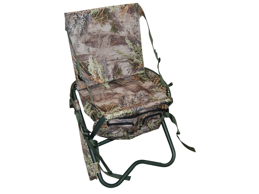 MOJO Critter Sitter Backpack and Folding Chair Nylon and Aluminum Realtree Max 4 Camo