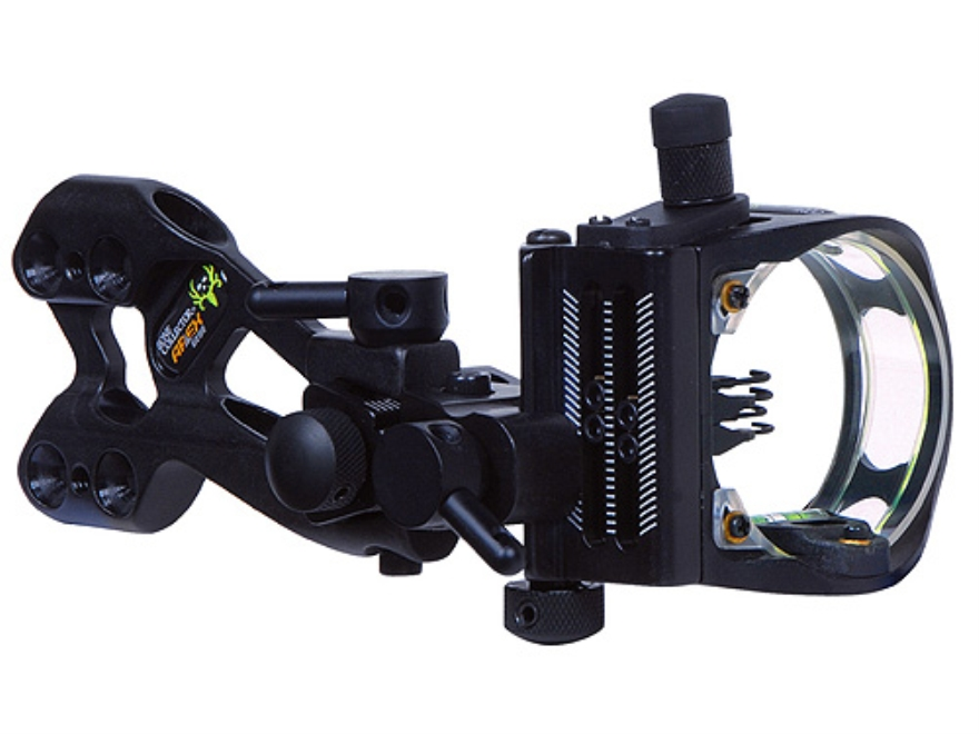"Apex Gear Bone Collector 4 Light 4-Pin Bow Sight .019"" to .010"" Diameter Pin Fixed Bracket Ambidextrous Aluminum Black"