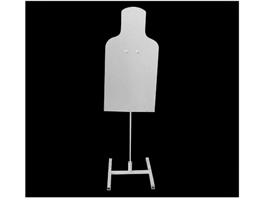 MGM Tac E Silhouette Target with Armor Plate Post and Tube Base Steel