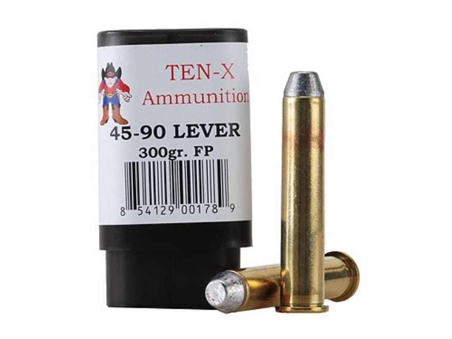 Ten-X Cowboy Ammunition 45-90 WCF Lever Action 300 Grain Flat Point Box of 20