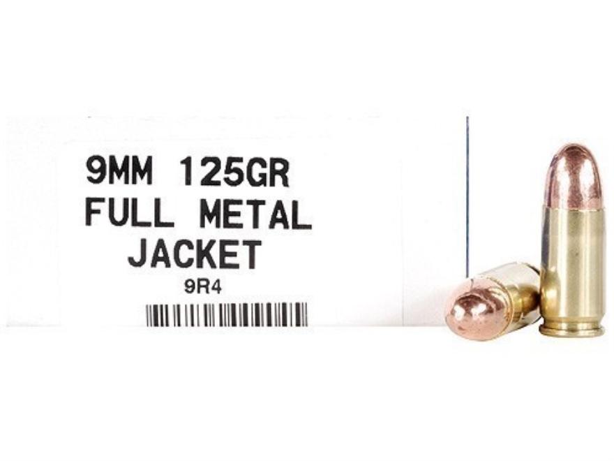 Ultramax Remanufactured Ammunition 9mm Luger 125 Grain Full Metal Jacket Box of 50