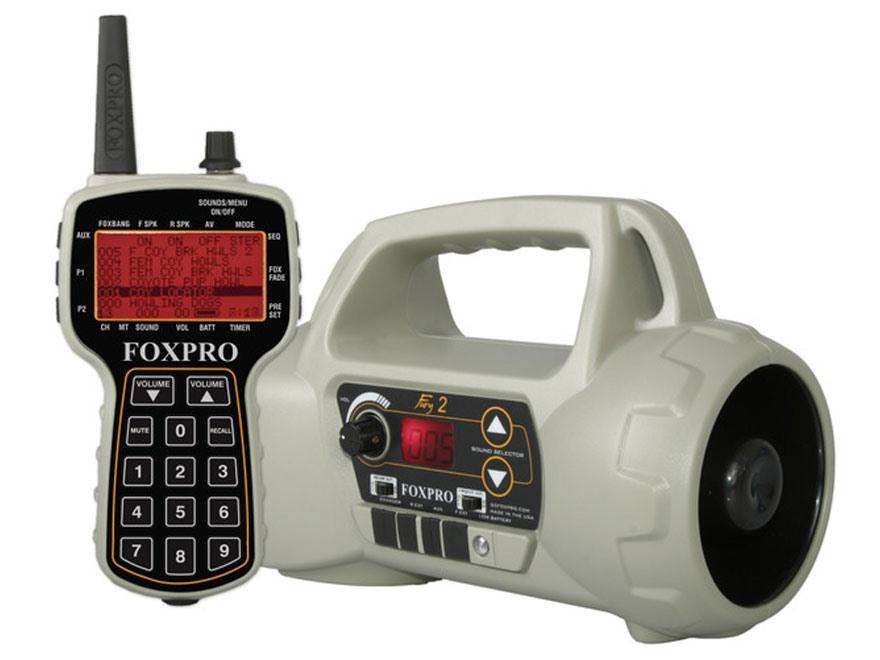 FoxPro Fury II Electronic Predator Call with 100 Digital Sounds Dark Tan