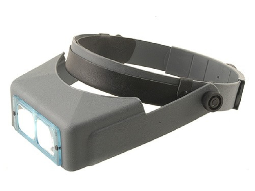 "Donegan Optical OptiVISOR Magnifying Headband Visor with 1-3/4X at 14"" Lens Plate"