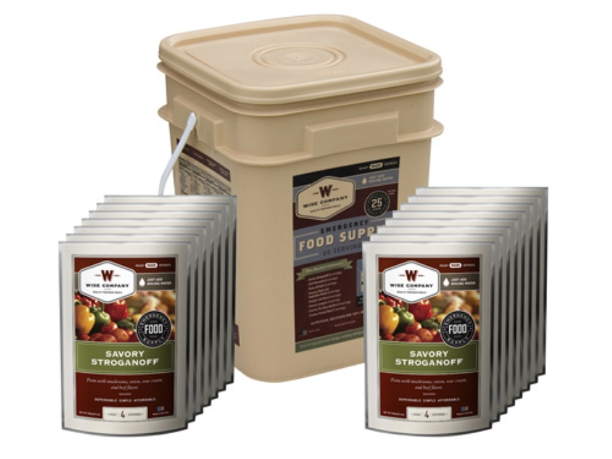 Wise Food Grab N' Go Freeze Dried Meals 60 Serving Bucket