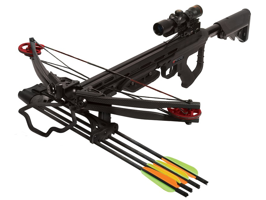 PSE Smoke Crossbow Package with 4x 32mm Crossbow Scope Black