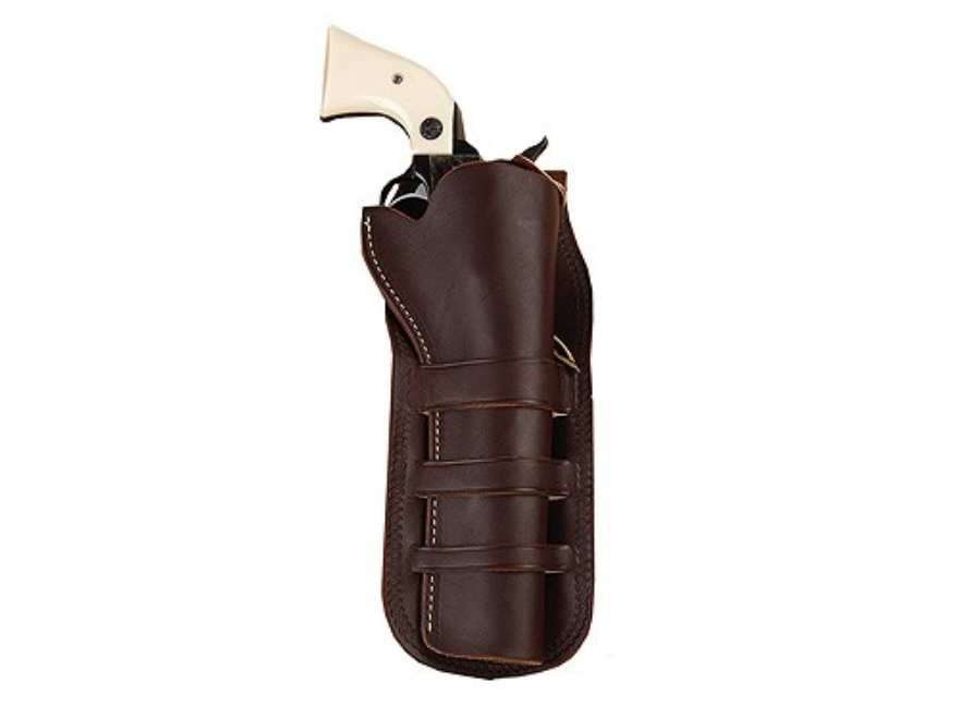 "Hunter 1091 Triple Loop Holster Colt Single Action Army, Ruger Blackhawk, Vaquero 7.5"" Barrel Leather Antique Brown"