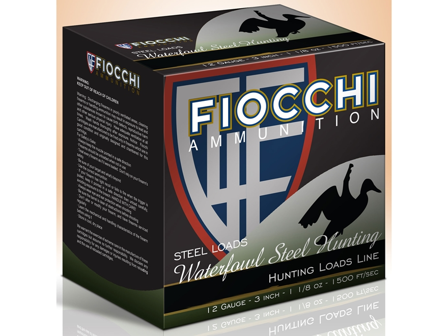 "Fiocchi Speed Steel Ammunition 12 Gauge 3"" 1-1/8 oz BB Non-Toxic Steel Shot"