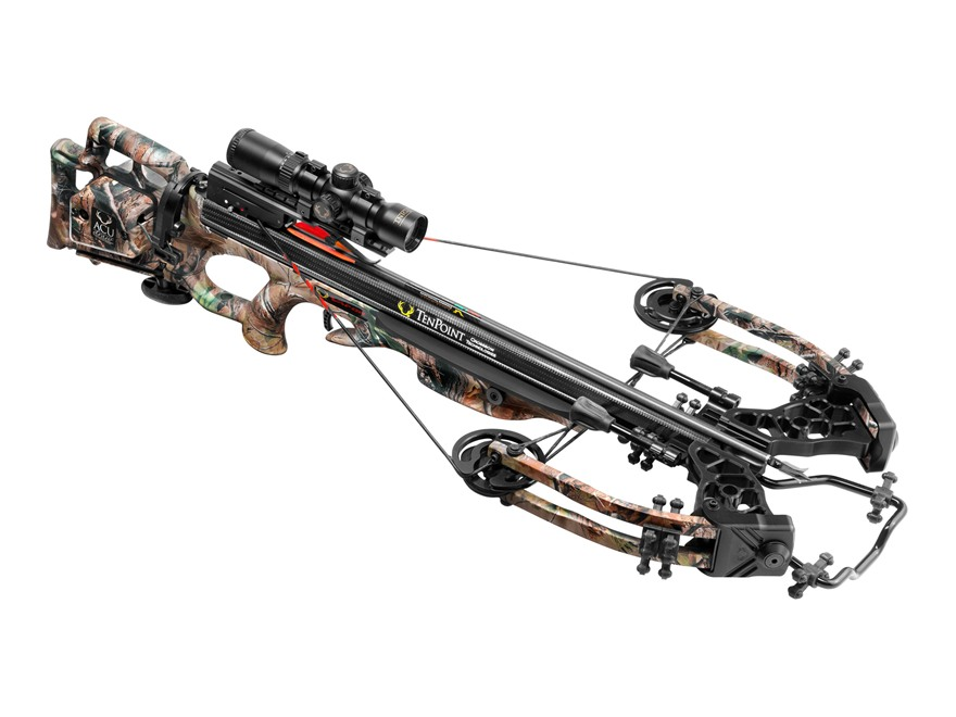 TenPoint Vapor Crossbow Package with Rangemaster Pro Scope and ACUdraw System Realtree Xtra Green Camo