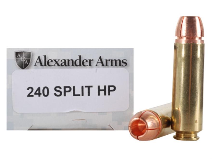 Alexander Arms Ammunition 50 Beowulf 240 Grain Millennium Solid Copper Split Hollow Point Box of 20