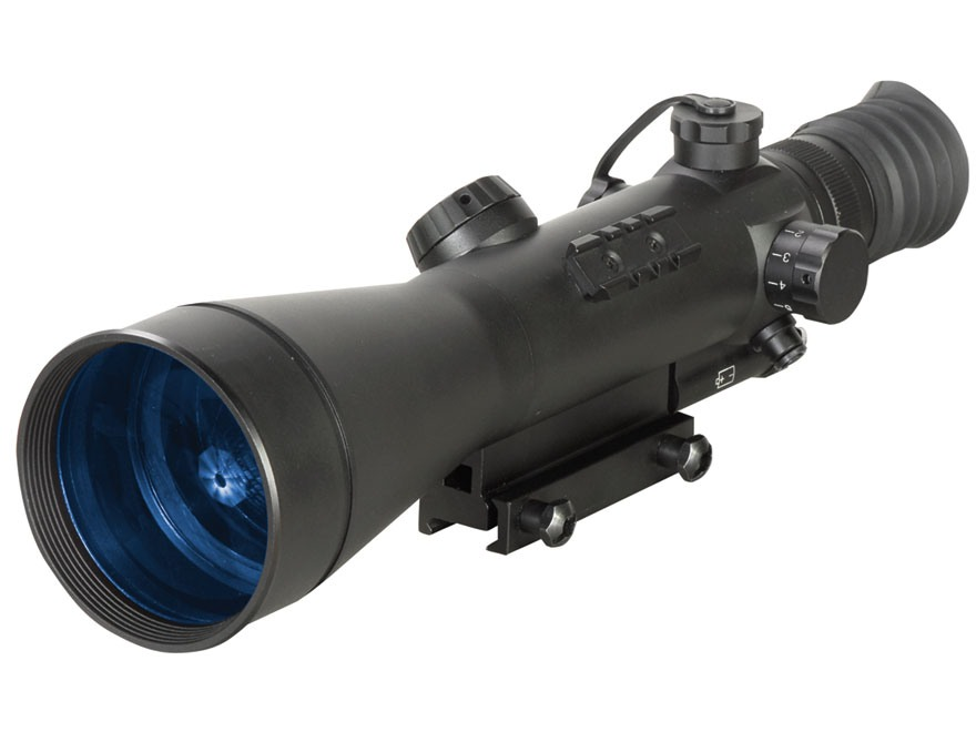 ATN Night Arrow 6-2 2nd+ Generation Night Vision Rifle Scope 6x Illuminated Red Duplex Reticle with Integral Weaver-Style Mount Matte