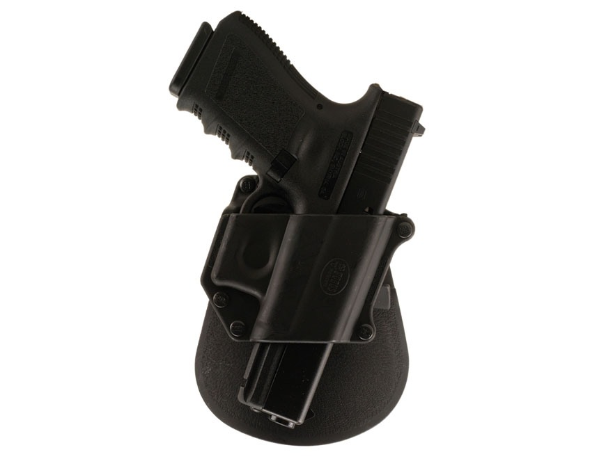 Fobus Compact Paddle Holster Right Hand Glock 17, 19, 22, 23, 26, 27, 31, 32, 33, 34, 35 Polymer Black
