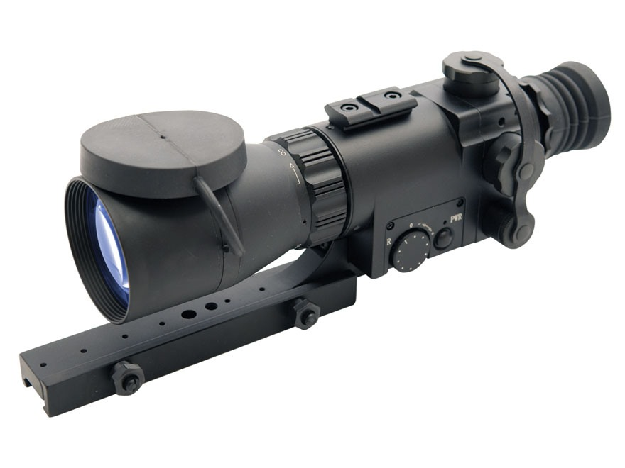 ATN Aries MK350 Guardian 1st Generation Night Vision Compact Rifle Scope 2.5x 50mm Illuminated Red Duplex Reticle with Integral Weaver-Style Mount Matte