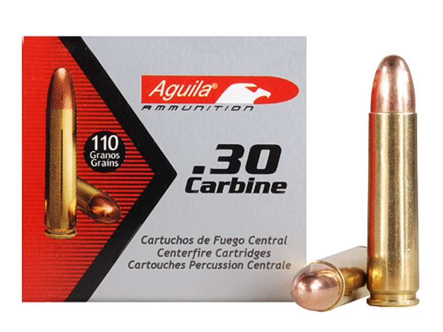 Aguila Ammunition 30 Carbine 110 Grain Full Metal Jacket