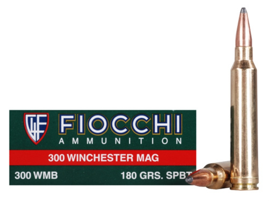 Fiocchi Shooting Dynamics Ammunition 300 Winchester Magnum 180 Grain Hornady InterLock Boat Tail Box of 20