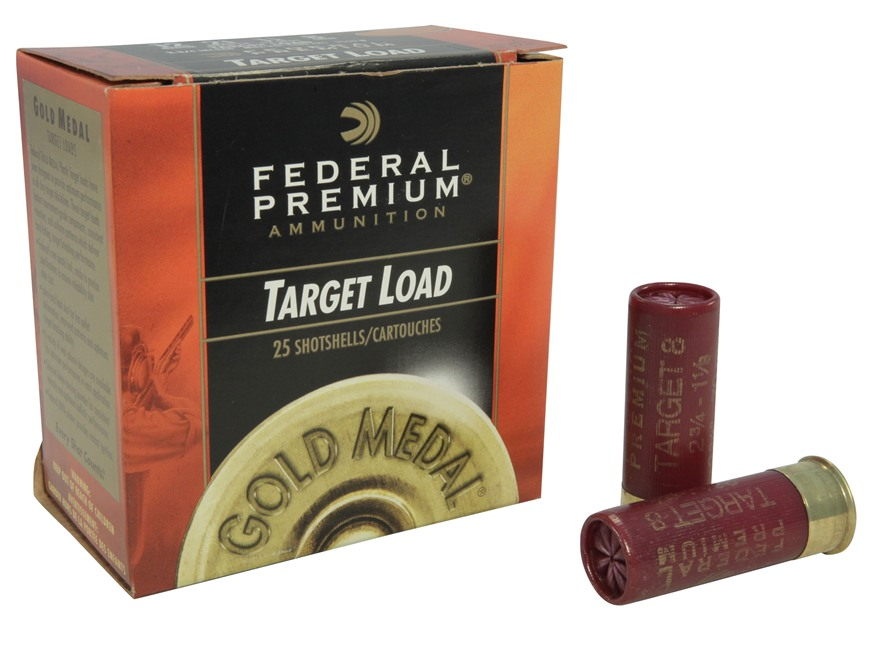 "Federal Premium Gold Medal Ammunition 12 Gauge 2-3/4"" 1-1/8 oz #8 Shot"
