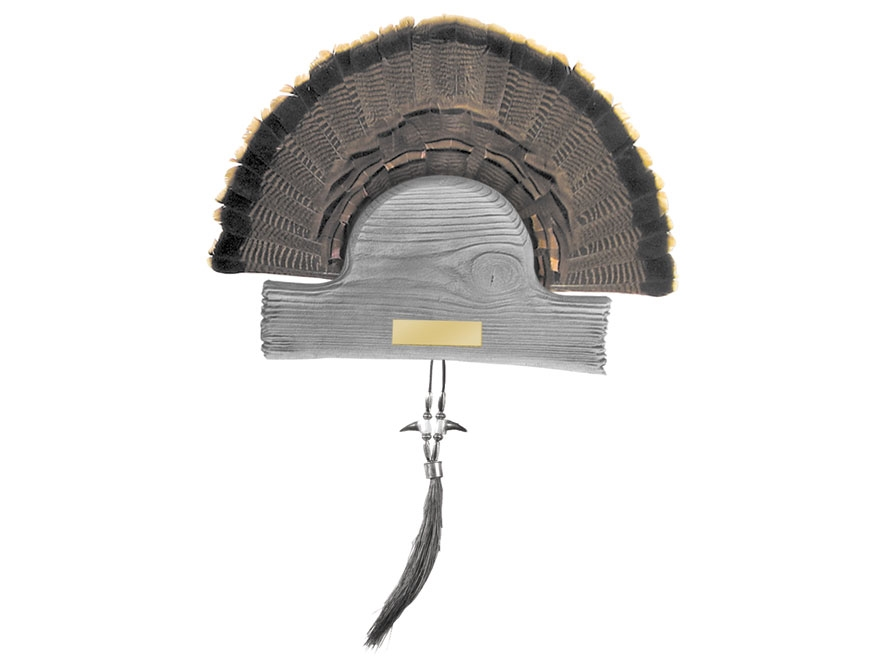 H.S. Strut Barnwood Turkey Mounting Plaque