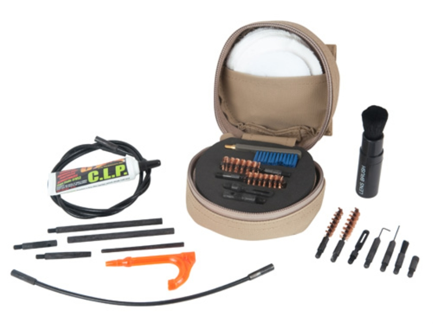 Otis 5.56mm NATO/223 Remington and 7.62mm/308 Winchester M40A3 Sniper Cleaning Kit Tan