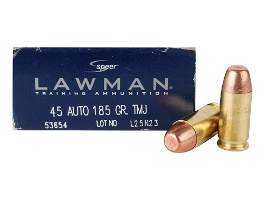 Speer Lawman Ammunition 45 ACP 185 Grain Total Metal Jacket
