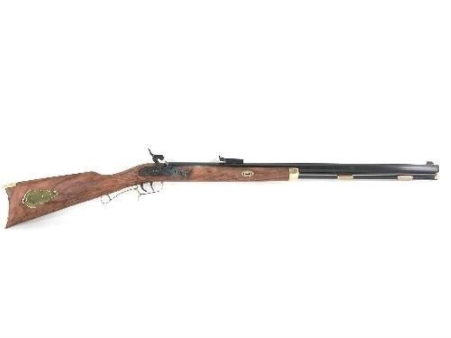 "CVA St. Louis Hawken Muzzleloading Rifle 50 Caliber Percussion Wood Stock 1 in 48"" Twist 28"" Blue Barrel"