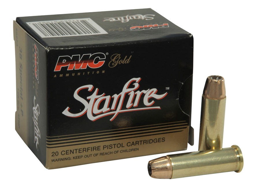PMC Gold Ammunition 38 Special +P 125 Grain Starfire Hollow Point Box of 20