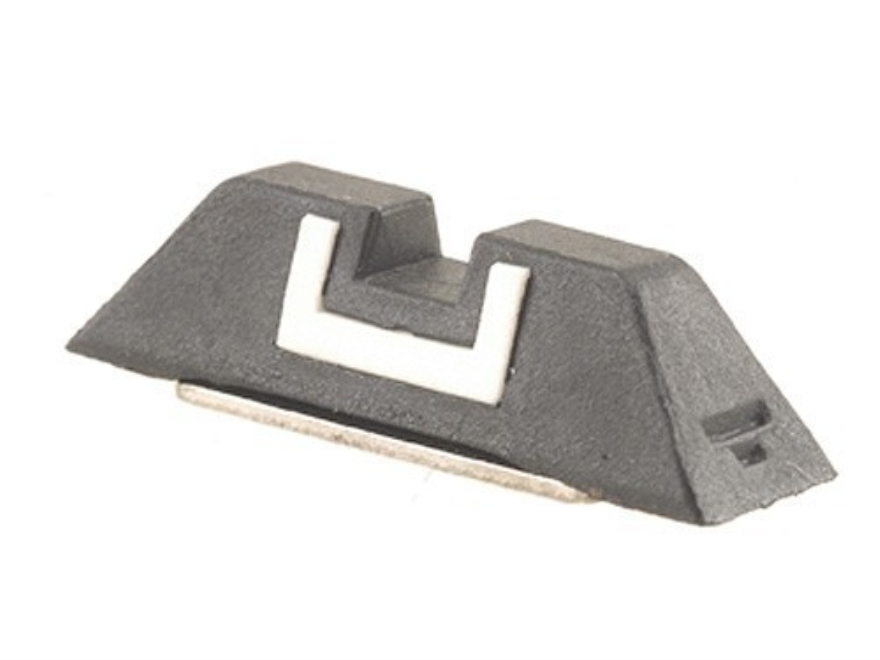 "Glock Square Rear Sight 6.1mm .240"" Height Polymer Black White Outline"