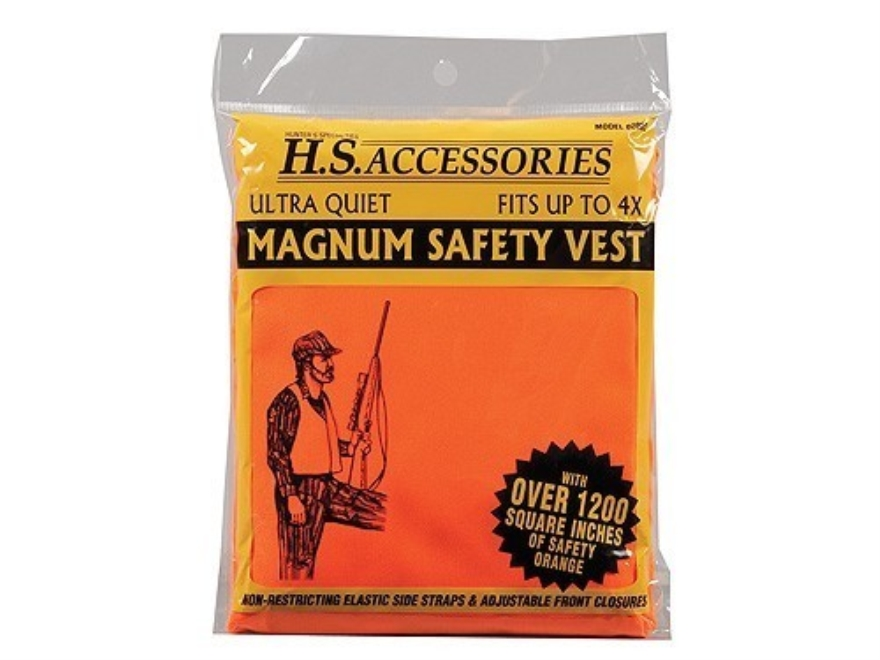 Hunter's Specialties Magnum Hunter's Safety Vest Polyester Blaze Orange One Size