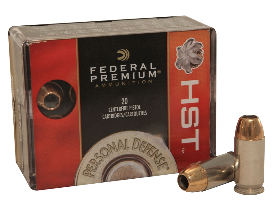 Federal Premium Personal Defense Ammunition 45 ACP 230 Grain HST Jacketed Hollow Point Box of 20