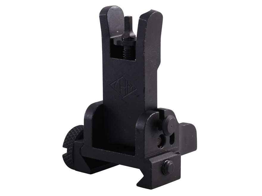 Yankee Hill Machine Flip-Up Front Sight Gas Block Height AR-15, LR-308 Steel Matte