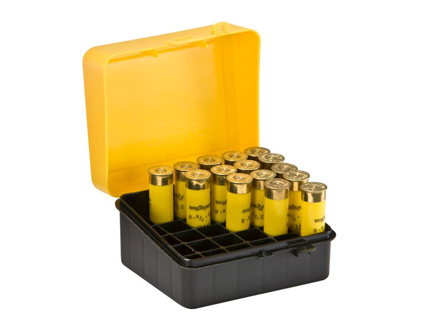 Plano Shotgun Shell Box 20 Gauge 25-Round Polymer Yellow