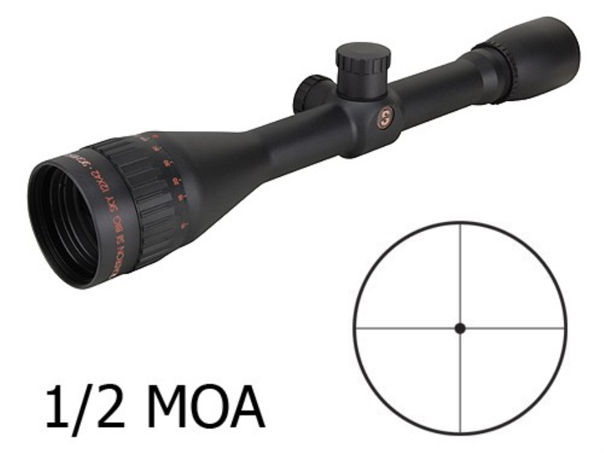 Sightron SII Big Sky Rifle Scope 12x 42mm 1/2 MOA Dot Reticle Matte