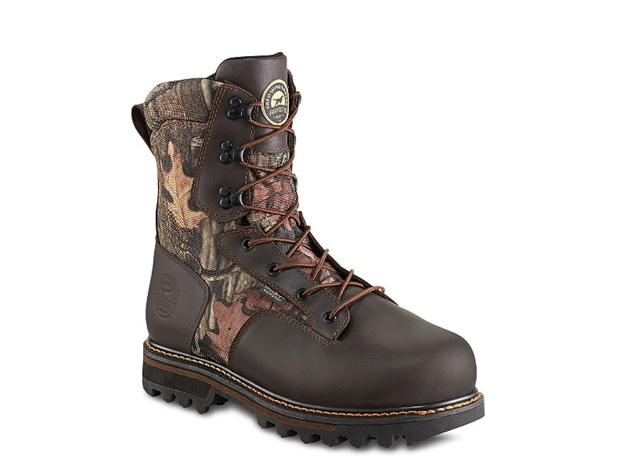 "Irish Setter Gunflint II 10"" Waterproof 1000 Gram Insulated Hunting Boots Leather and Nylon Mossy Oak Break-Up Infinity Camo Men's"