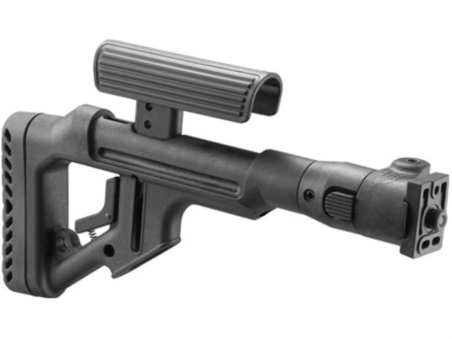 Mako Tactical Side Folding Buttstock with Adjustable Cheek Rest Metal Joint VZ-58 Polymer Black