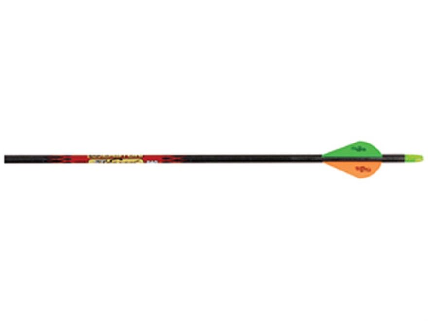 "Easton ST Carbon Excel 400 Carbon Arrow 2"" Blazer Vanes Black Pack of 12"