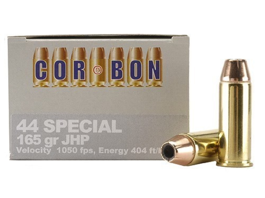 Cor-Bon Self-Defense Ammunition 44 Special 165 Grain Jacketed Hollow Point Box of 20