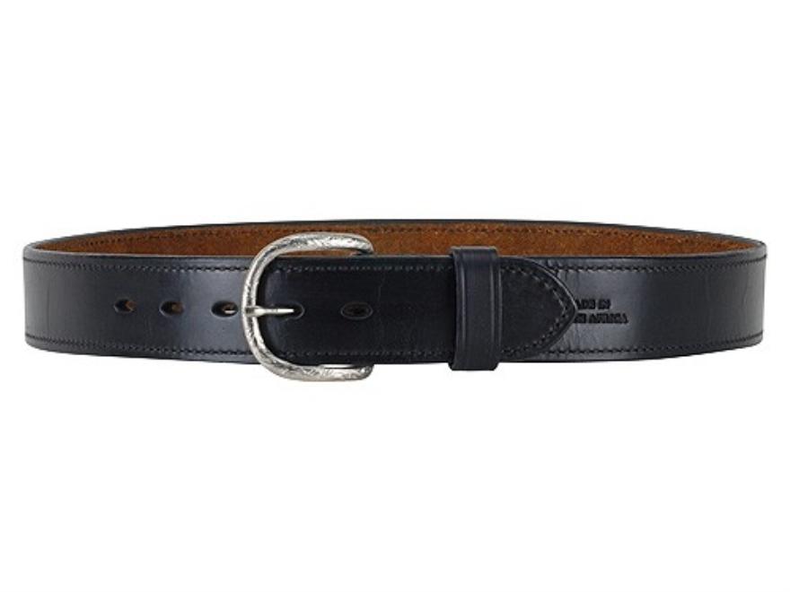 "Ross Leather Dress Belt 1-1/2"" Brass Buckle Leather"