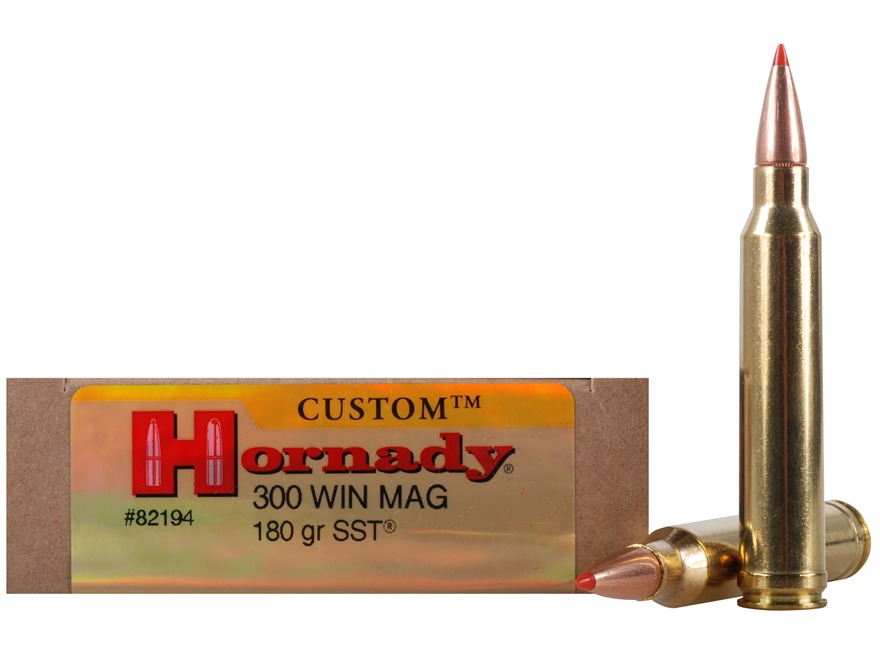 Hornady Custom Ammunition 300 Winchester Magnum 180 Grain SST Box of 20