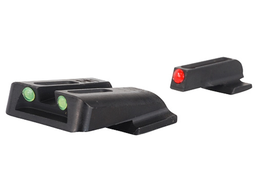 TRUGLO Brite-Site Sight Set S&W M&P, SD9, SD40 Steel Fiber Optic Red Front, Green Rear