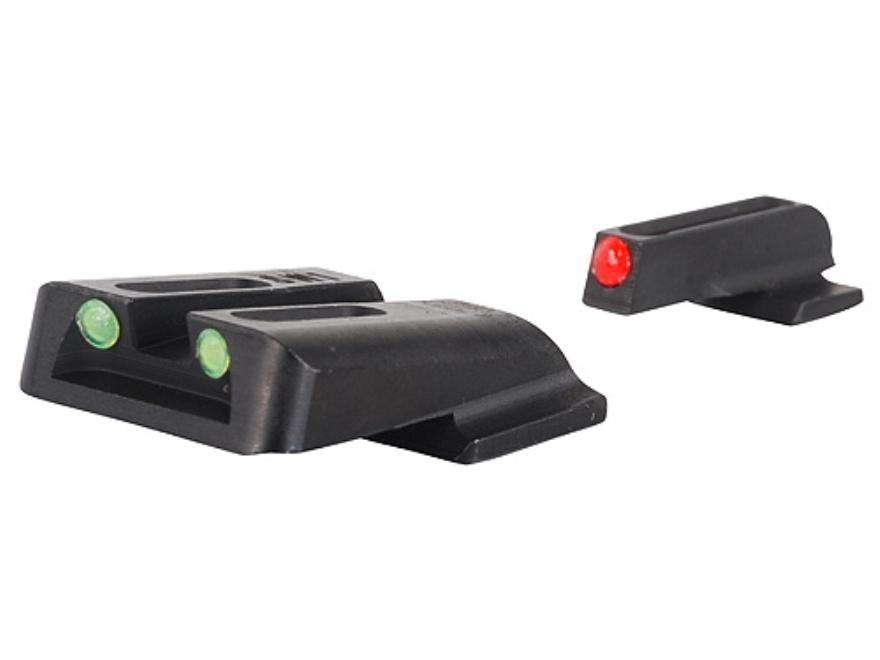 TRUGLO Brite-Site Sight Set S&W M&P, SD9, SD40 Steel Fiber Optic Red Front, Green Rear