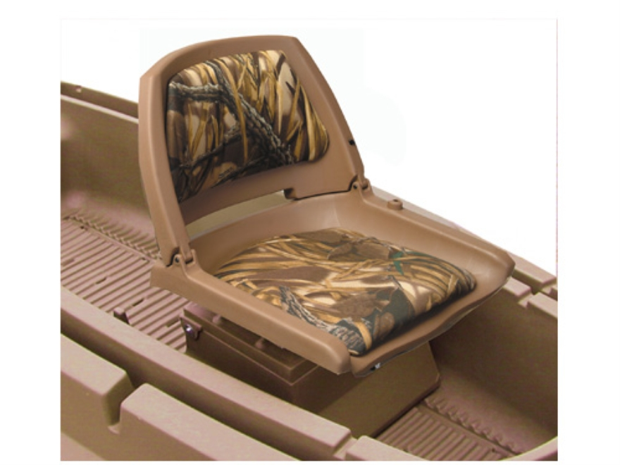 Beavertail Stealth 1200 Boat Seat Box Polymer Marsh Brown
