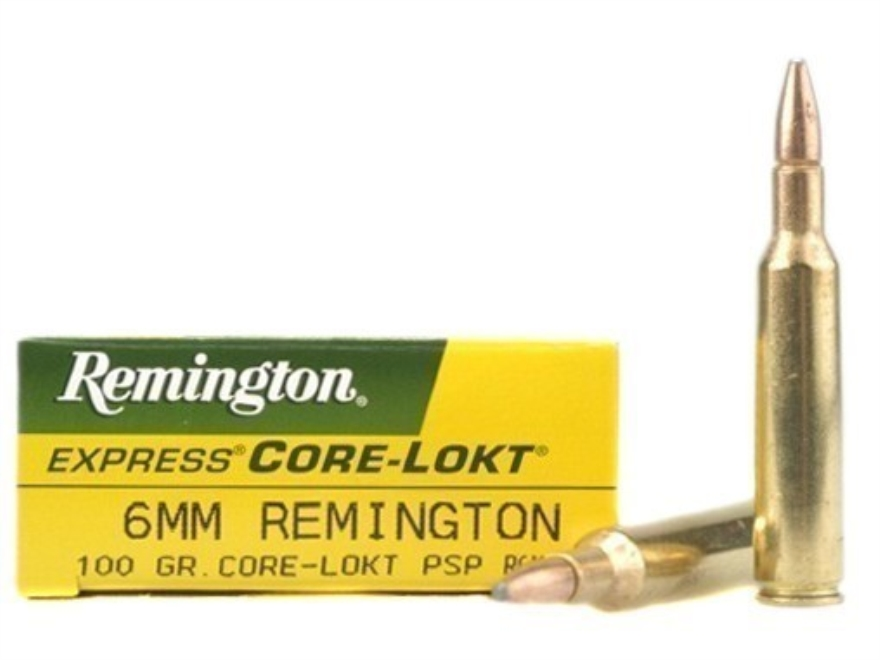 Remington Express Ammunition 6mm Remington 100 Grain Core-Lokt Pointed Soft Point Box of 20