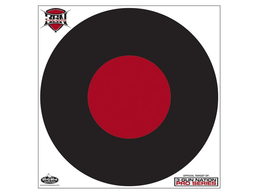 "Birchwood Casey Dirty Bird 3-Gun Nation 17.25"" Bullseye Targets Pack of 5"
