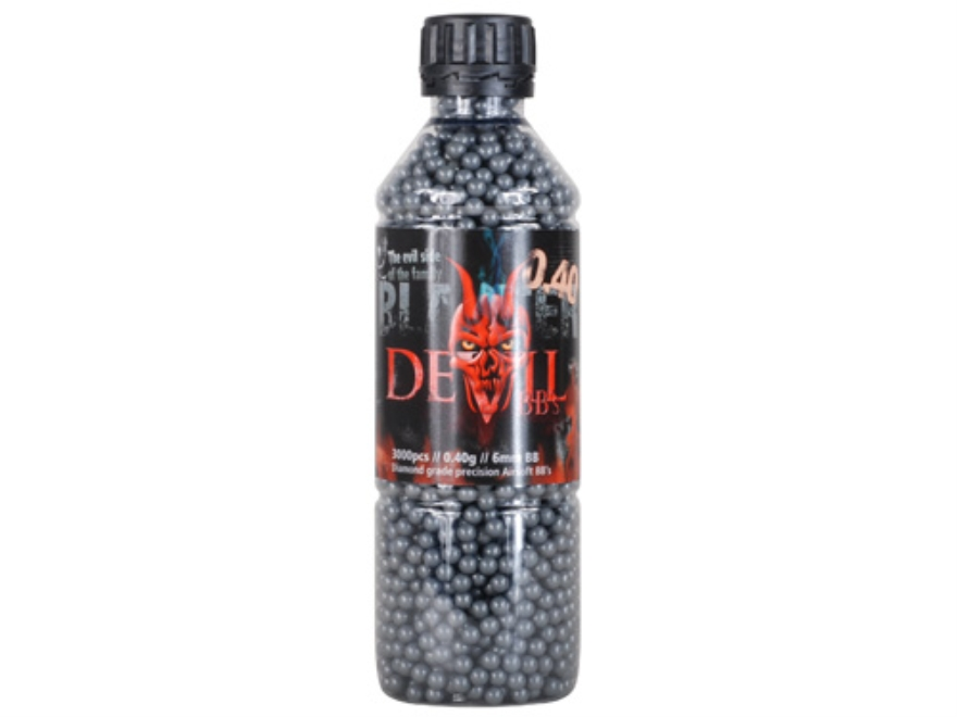 Blaster Devil Airsoft BBs 6mm .40 Gram Black Bottle of 3000