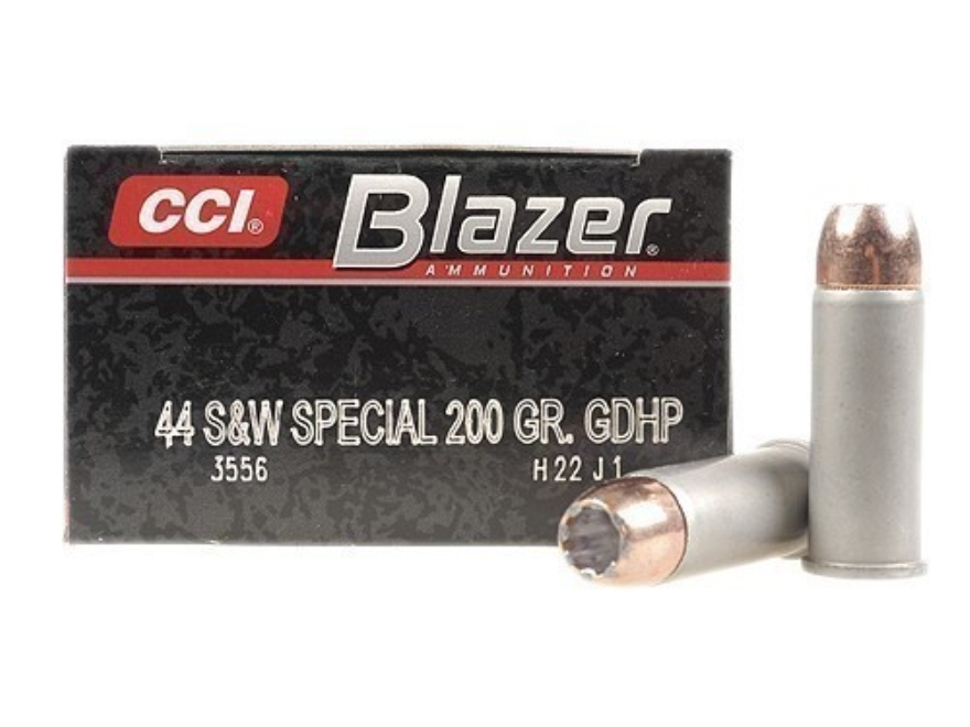 CCI Blazer Ammunition 44 Special 200 Grain Speer Gold Dot Jacketed Hollow Point Box of 50
