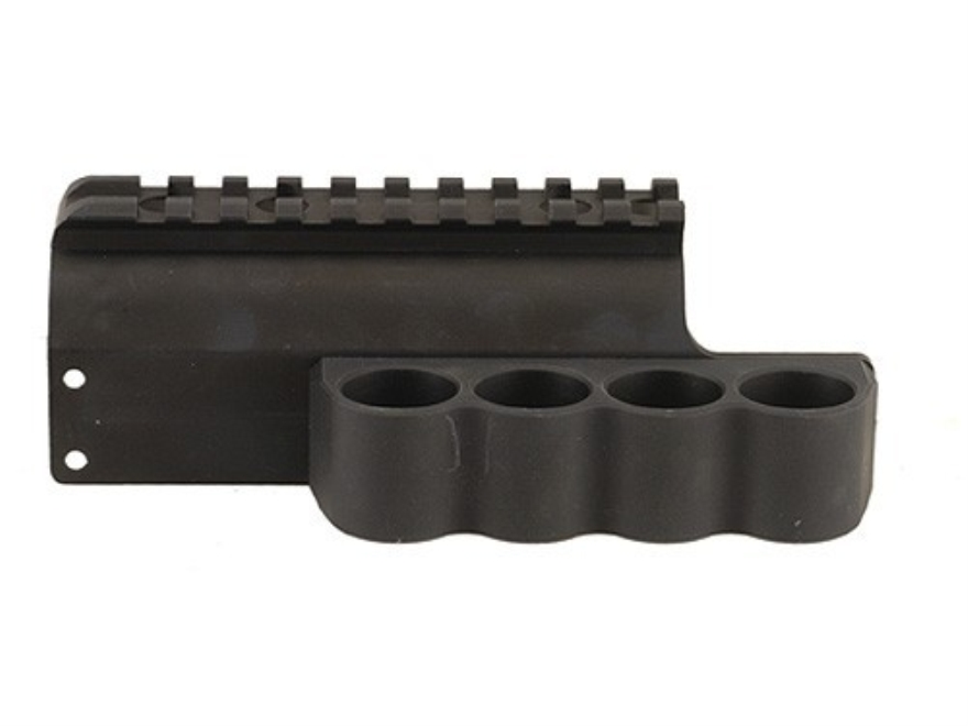 Mesa Tactical Sureshell Shotshell Ammunition Carrier with Picatinny Optic Rail 12 Gauge Benelli M2 Tactical Aluminum Matte
