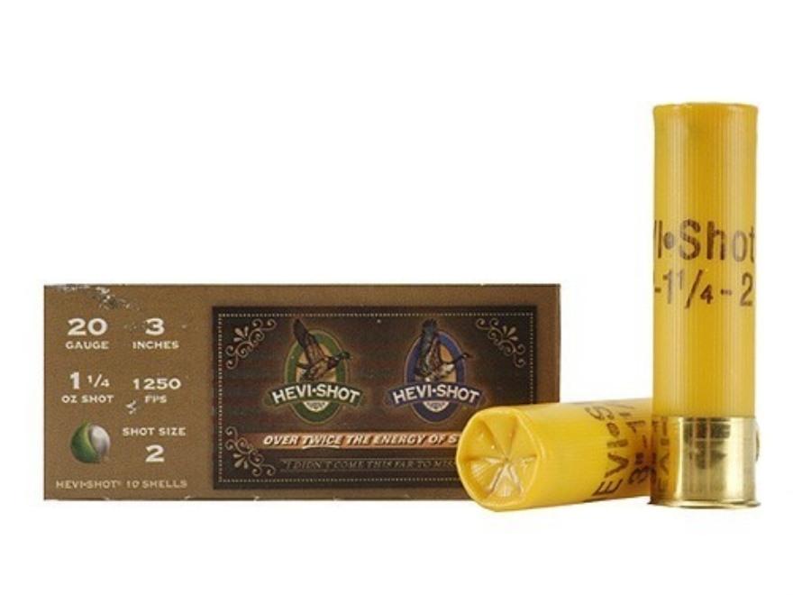"Hevi-Shot Duck Waterfowl Ammunition 20 Gauge 3"" 1-1/4 oz #2 Non-Toxic Shot"
