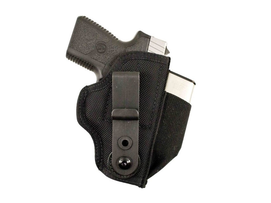 "DeSantis Tuck-This 2 Inside the Waistband Holster Ambidextrous Glock 26, 27, 29. 30, Springfield XDS 3.3"", S&W M&P Shield, M&P22 Compact, Sig P239, P250 Nylon Black"