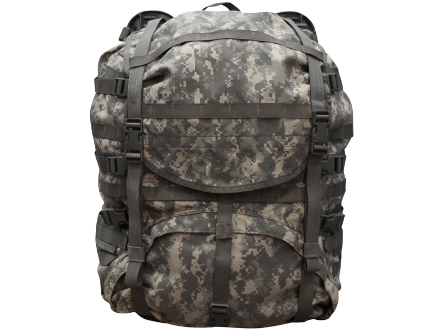 Military Surplus MOLLE II Large Rucksack Complete Assembly Grade 2 Nylon ACU Digital Camo