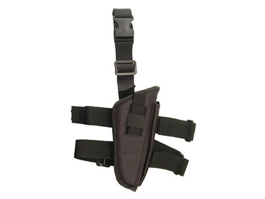 "Hunter Tactical Thigh Holster Medium through Large Frame Semi-Auto Pistols 5"" Barrel Nylon Black"