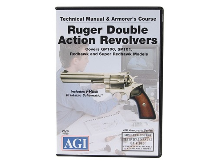 "American Gunsmithing Institute (AGI) Technical Manual & Armorer's Course Video ""Ruger Double Action Revolvers"" DVD"